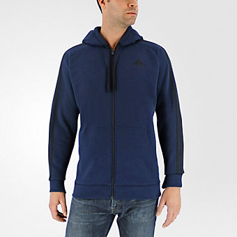 Essential Cotton Fleece Full Zip, Collegiate Navy/Black