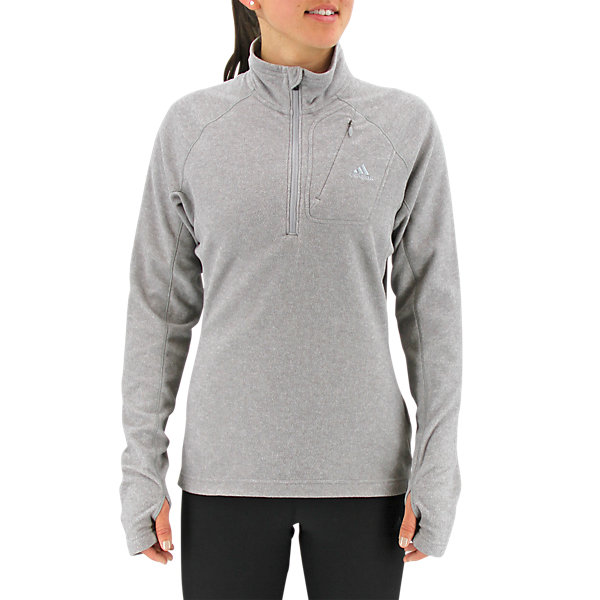 Hiking Reachout Fleece, Medium Gray Heather, large