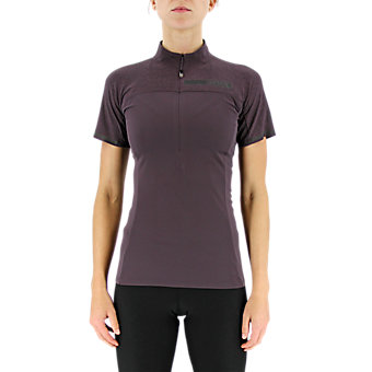 Terrex Climachill 1/2 Zip Tee, Mineral Red/Chill Miner Red
