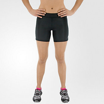 Techfit Boy Short 5in, Black/matte Silver