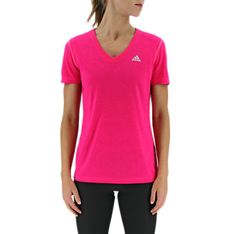 Ultimate Short Sleeve V-neck, Shock Pink