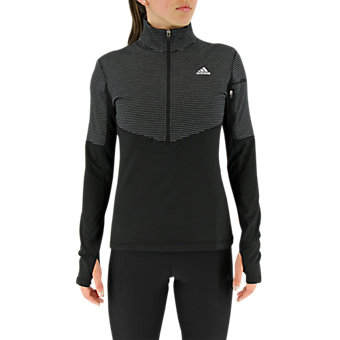 Lightweight 1/2 Zip, Black/Matte Silver, medium