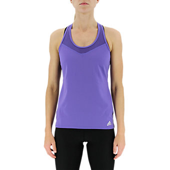 Mesh Mix Tank, Purple/Matte Silver