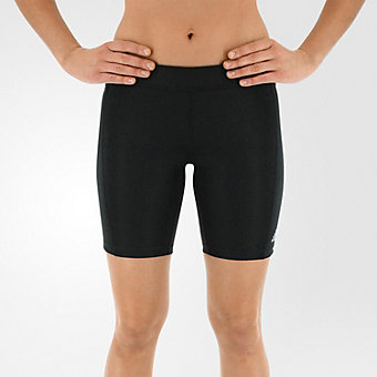 Techfit Boy Short 7in, Black/matte Silver