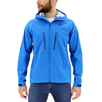 Swift Softshell Hoodie, Shock Blue