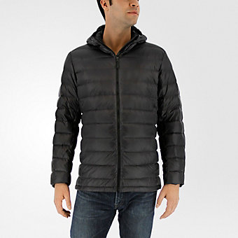 Light Down Hooded Jacket, Utility Black
