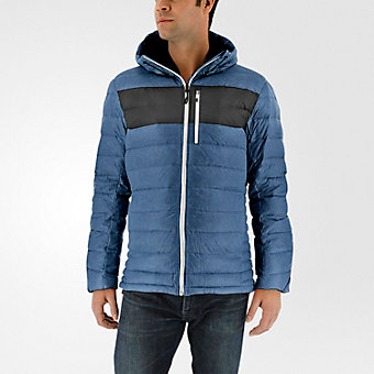 Climaheat Frost Hooded Jacket, Mineral Blue/Utility Black