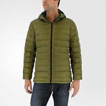 Light Down Hooded Jacket, Olive Cargo