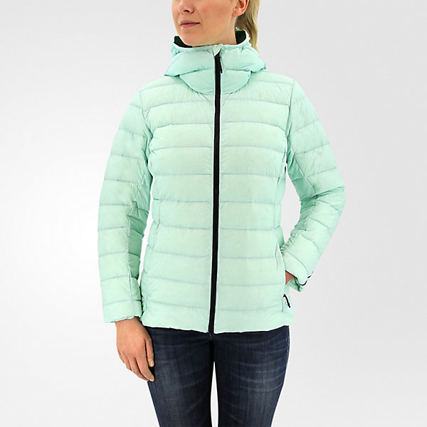 Light Down Hooded Jacket, Ice Green, large