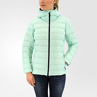 Light Down Hooded Jacket, Ice Green
