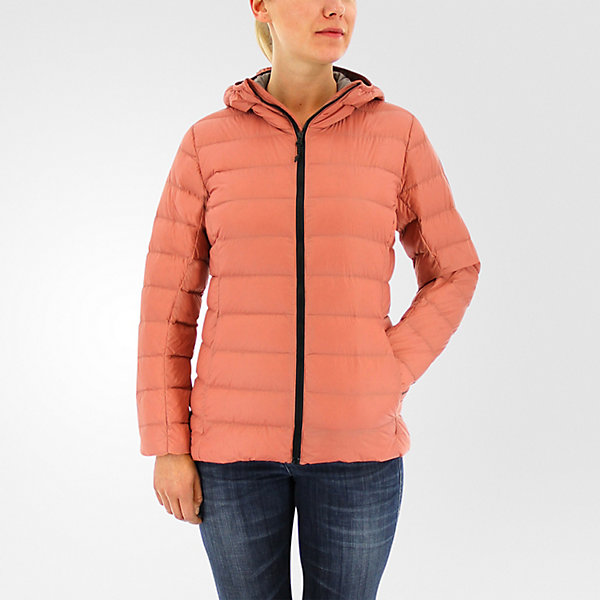 Light Down Hooded Jacket, Raw Pink, large