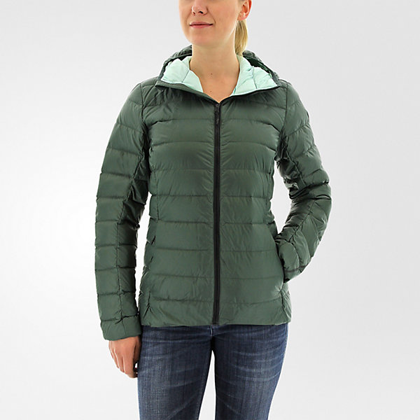 Light Down Hooded Jacket, Utility Ivy, large