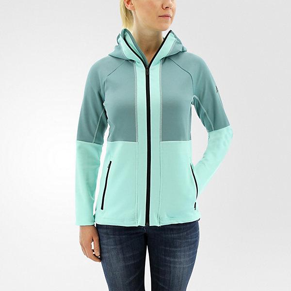 1-Side Hooded Fleece, Vapour Steel/ice Green, large