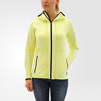1-Side Hooded Fleece, Ice Yellow