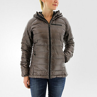 Terrex Climaheat Agravic Hooded Down Jacket, Tech Earth/utility Black