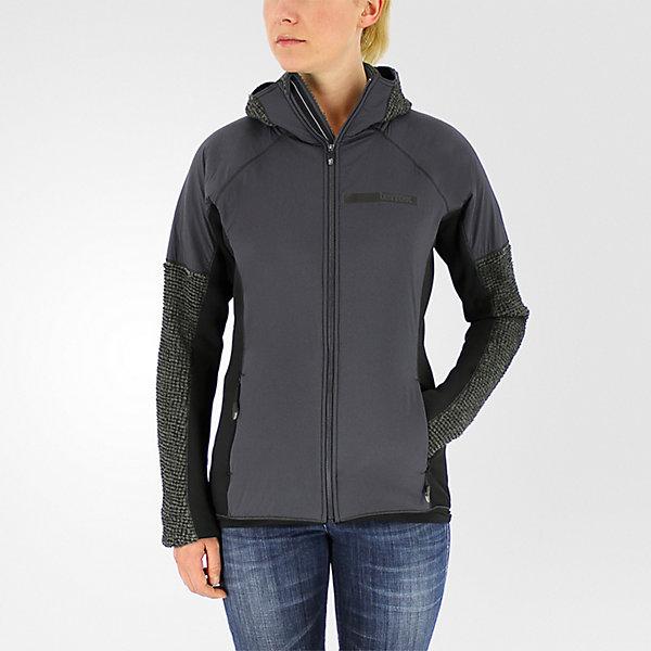 Terrex Climaheat Techrock Hooded Fleece, Dark Solid Gray, large