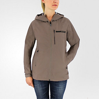 Terrex Fastr Gtx Active Shell Hooded Jacket, Tech Earth