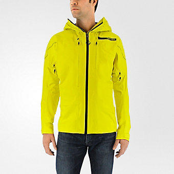 Terrex Techrock GTX Hooded Jacket, Bright Yellow/black
