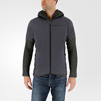 Terrex Climaheat Techrock Hooded Fleece, Dark Solid Gray