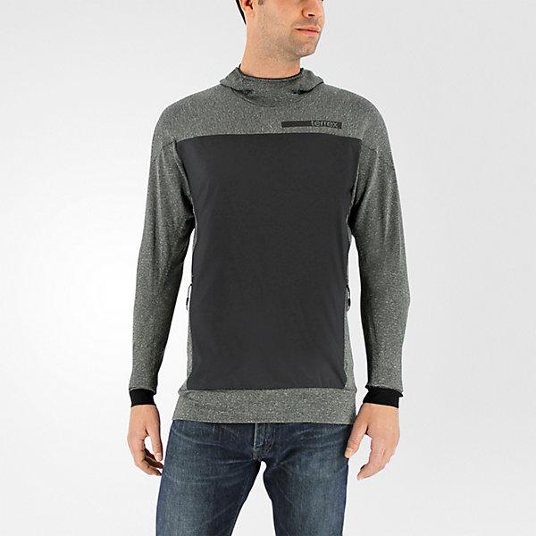 Terrex Solo Wool Hoodie, Dark Gray, large