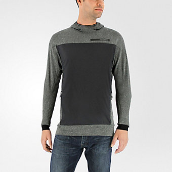 Terrex Solo Wool Hoodie, Dark Gray
