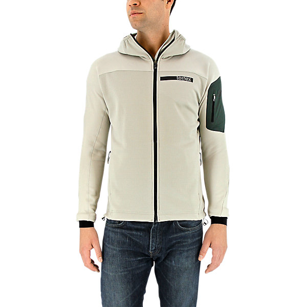 Terrex Stockhorn Fleece Hooded Jacket, Sesame, large