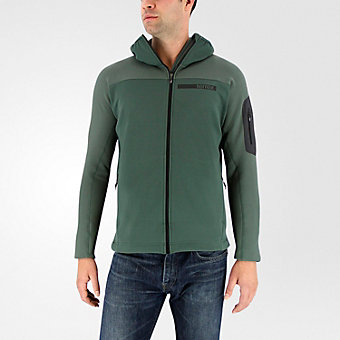 Terrex Stockhorn Fleece Hooded Jacket, Utility Ivy