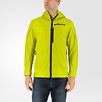 Terrex Agravic Windstopper Hybrid Softshell Hoodie, Unity Lime