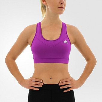 Techfit Bra Solid, Shock Purple/Matte Silver