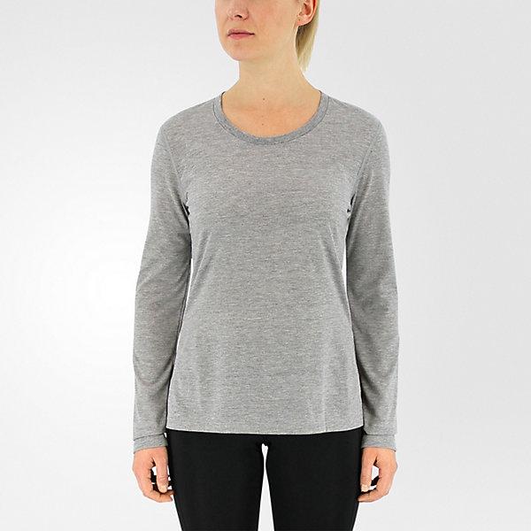 Ultimate Long Sleeve Side Slit, Medium Gray Hthr/matte Silver, large