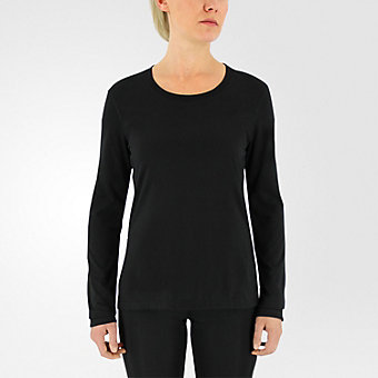 Ultimate Long Sleeve Side Slit, Black/matte Silver