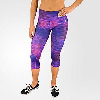 Performer Mid-rise 3/4 Tight, Shock Purple/Print/Matte Silver