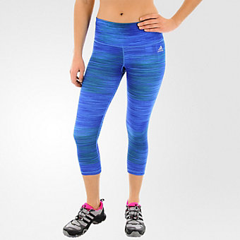 Performer Mid-rise 3/4 Tight, Bold Blue/Print/Matte Silver