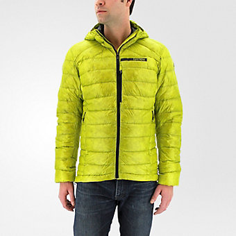Terrex Climaheat Agravic Down Hooded Jacket, Unity Lime/Utility Black