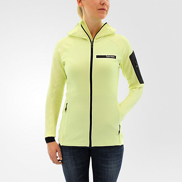 Terrex Stockhorn Hooded Fleece Jacket, Ice Yellow, large