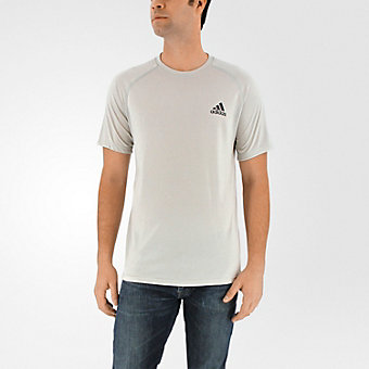 Ultimate Short Sleeve Tee, Light Solid Gray/Black