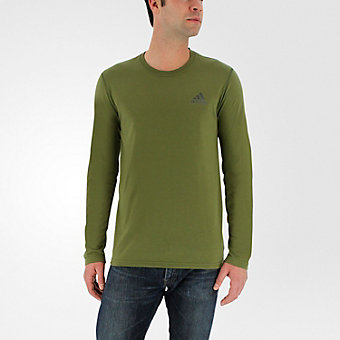 Ultimate Long Sleeve Tee, Olive Cargo/Dark Gray Hthr