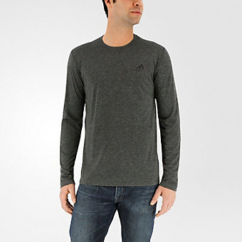Ultimate Long Sleeve Tee, Dark Solid Gray/Dark Gray Hthr