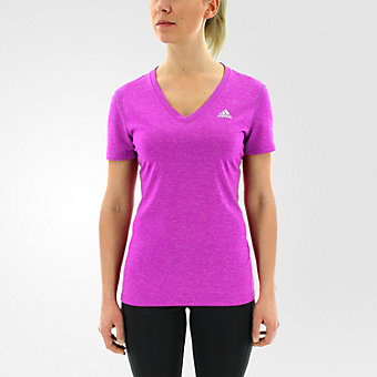 Ultimate Short Sleeve V-neck, Shock Purple/Matte Silver