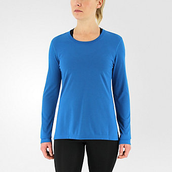 Ultimate Long Sleeve Side Slit, Unity Blue/Matte Silver