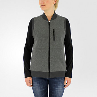 Reversible Sportswear Vest, Black/Dark Gray Heather
