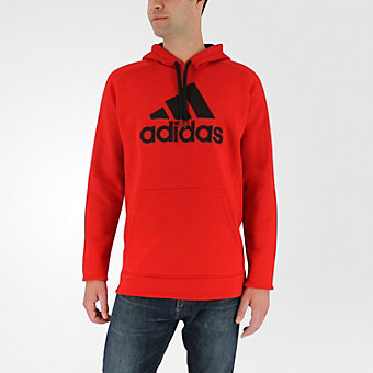 Cotton Pullover Core, Scarlet/black