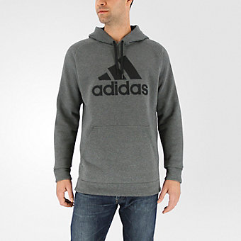 Cotton Pullover Core, Dark Gray Hthr/Black