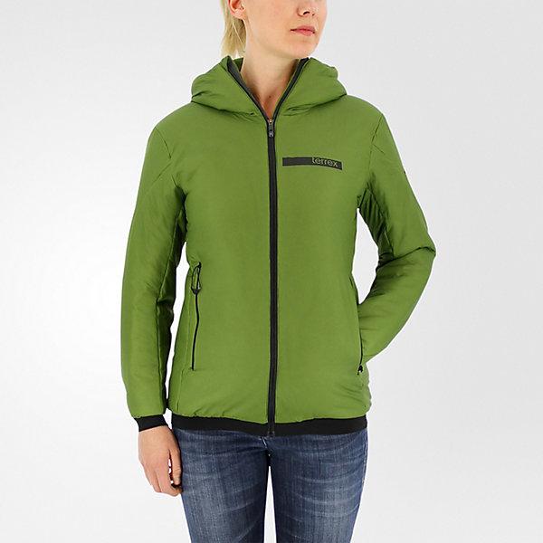 Terrex Ndosphere Flex Hooded Jacket II, Craft Green, large