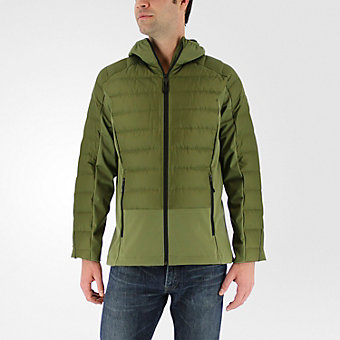 Hybrid Down Jacket, Olive Cargo