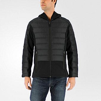 Hybrid Down Jacket, Black