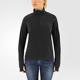 Reachout 1/2 Zip Fleece, Black