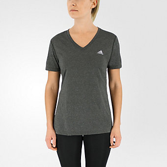 Ultimate Short Sleeve V-neck, Dark Gray Heather