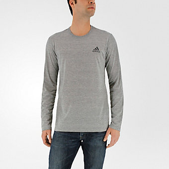 Ultimate Long Sleeve Tee, Medium Gray Hthr/dark Solid Gray