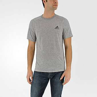 Ultimate Short Sleeve Tee, Medium Gray Hthr/Dark Solid Gray
